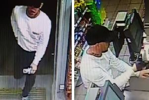 Police have released CCTV images of a man sought in connection with the incident