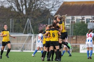 Chichester City Ladies faced Brighton's development side in the Sussex Cup final at Lancing - and won 1-0 / Pictures by Sheena Booker