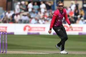 Danny Briggs is having a fine One Day Cup campaign / Picture by Andrew Hasson for Sussex Cricket