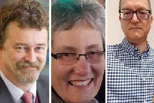 Kenilworth Town Councillors for the Borrowell Ward: (from left) Alan Chalmers, Kate Dickson and Graham Hyde.