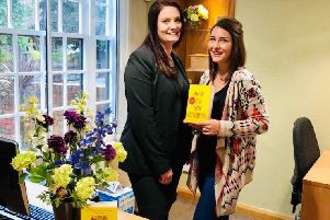 Katy Colins (right) and Nikki Whiting, who was the inspiration behind the main character in her new book.
