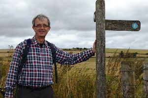Richard Marshall, chairman of Acorn Pregnancy Counselling Centre, is walking the South Downs Way to raise money for the charity ahead of its 25th anniversary