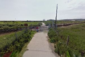 Current level crossing at Tide Mills (photo by Google Maps Street View)
