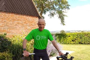 Chilton resident Rod Alexander, aged 72, is planning to cycle 700 miles in seven days in memory of his wife Jacky, to raise money for Florence Nightingale Hospice Charity.