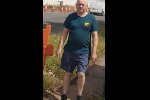 A CCTV image of the man police would like to speak with.