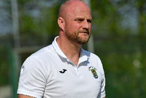 Rugby Town manager Carl Adams