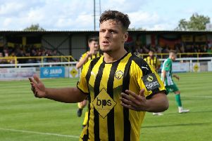 Josh March wrapped up a prolific August with two goals against Blyth. Picture: Tim Nunan
