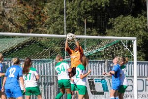 Rhiannon Stewart impresses in goal for Chi Ladies / Picture by Sheena Booker