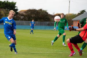 Selsey score against Mile Oak - but it ended in defeat / Picture by Chris Hatton