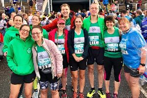 Kenilworth Runners athletes at the Chester Marathon. Picture submitted
