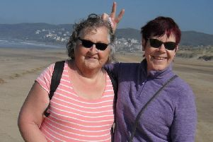 Jill Lee and her sister Sally.