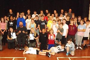 Some of the many children who attend the Hayling Boxing Academy.