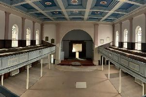 Interior of the United Reform Church in Leamington