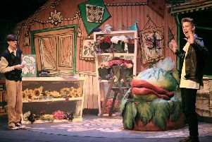 Photo from Warwick School and King's High School's recent production of Little Shop of Horrors.
