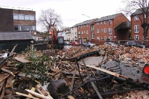 What is left of the Great Western pub.