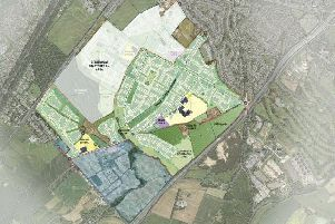Image of master plan for the proposed development of 2,500 homes at King's Hill