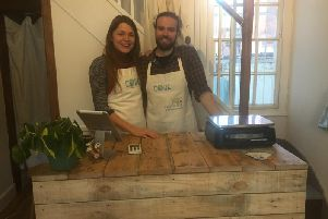 Beth Smith and Alex Daniels inside Core in park Street.