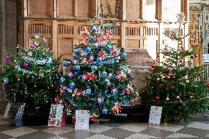 The Christmas Tree Festival in St Mary's Church