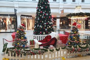 Santa's sleigh at the Royal Priors shopping centre in Leamington