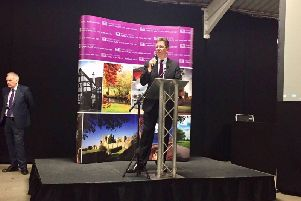 Jeremy Wright speaking after his win was announced