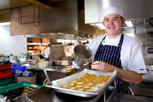 James Blair, who works as a professional cookery apprentice in Galgorm, started his career as a direct result of Mid and East Antrim's Community Plan.