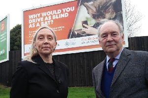 Warwickshire Police and Crime Commissioner Philip Seccombe and Annette Lloyd, Head of The Honest Truth.