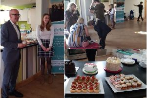 A coffee morning was held at the weekend in aid of Safeline. Photos supplied.