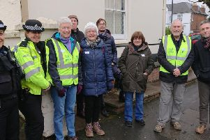 The Clarendon Park Walkers were joined by PC Charlie Lund and PCSO Eliza'Ryelowski on their first walk, which took place on January 23. Photo supplied