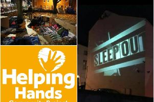 The Helping Hands Sleep Out will be taking place on Friday February 7. Photos by Helping Hands