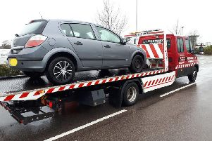 Car seized by Warwickshire PoliceOperational Patrol Unit (OPU)