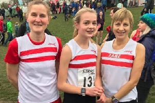 Kerry Stainton, Evie Brooks, and Jane Cope represented Louth at the Northern Cross Country Championships EMN-190128-103404002
