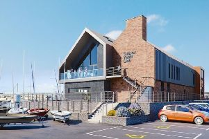 An artist's impression of the new Sussex Yacht Club building proposed. As part of the project Adur District Council is set to deliver new flood defences