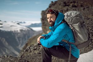 Ant Middleton on top of a mountain. His new show will be talking about what it took to survive Everest and the special forces.