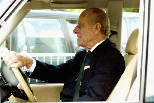 The Duke of Edinburgh at the wheel