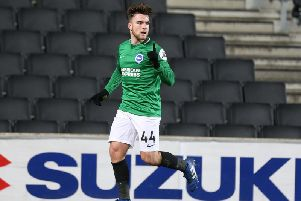 Brighton star Aaron Connolly joined Luton Town on loan (Photo by Pete Norton/Getty Images)