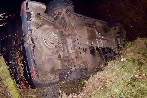Car ended up in the ditch