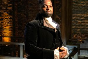 Gabriel Mokake, part of the Hamilton production