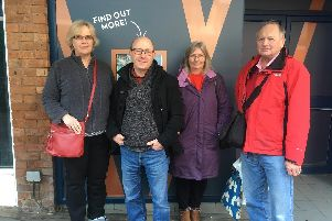 Hils Sharpe, Mid Susex Liberal Democrat prospective parliamentary candidate Robert Eggleston, Lyn Baines and Renny Ormond