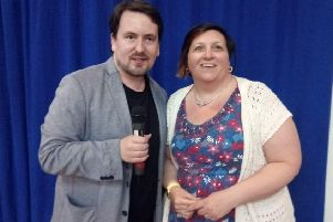 Parents for Autism founder Lindsey Butterfield with Dean Beadle, one of the high-profile speakers the group has welcomed