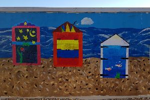 Pupils at Chesswood Junior School created artwork for the Bayside Apartments development