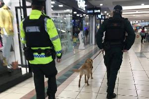 Police dog Jazz sniffed out more than a bargain at Rushmere.