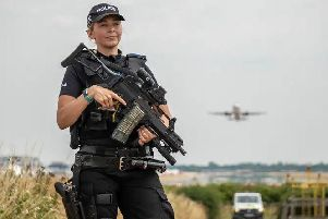 Armed police were part of the response to the incident