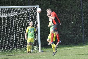 Krzysztof Paraficz scores the opener. Picture by Simon Newstead