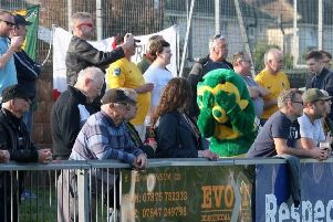 Horsham v Sevenoaks. Horsham crowd with Howie not able to watch. Picture by John Lines