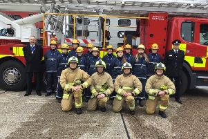 The graduates at Horsham Fire Station