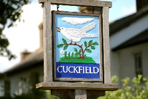 Cuckfield sign. Pic Steve Robards SUS-140728-171817001