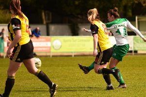 Action from Chichester City Ladies' win over Watford / Picture by Chris Hatton