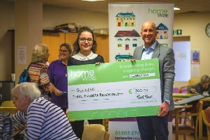Mark Neal, managing director at Homewise, with Juliet Hinton-Smith, events officer at Guild Care