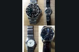 The four watches police are looking to reunite with their owners. Photo: Twitter