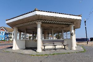 The seafront shelter near Windsor Road, Worthing